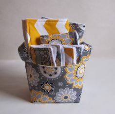 Yellow and gray baby gift set