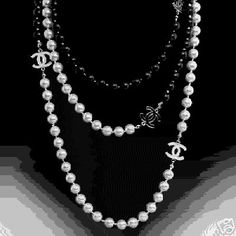 "Good idea. ""going to make a similar pearl necklace using unique connectors instead of the Chanel ones"""