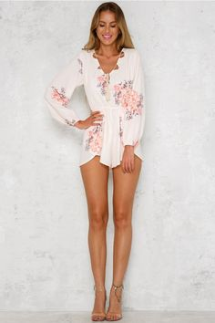 Bow River Playsuit Beige easter