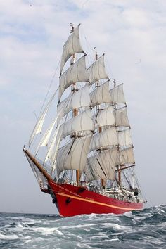 Khersones previous name was Aleksandr Grin. She is a full rigged steel ship.  Her home port is Kerch