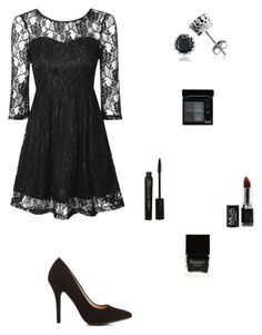 """""""Black Crochet"""" by angelicarorie36 ❤ liked on Polyvore featuring True Decadence, Charlotte Russe, Givenchy, CARGO, Butter London and BERRICLE"""