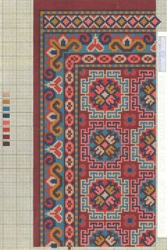 This Pin was discovered by ele Cross Stitch Love, Cross Stitch Borders, Cross Stitch Charts, Cross Stitching, Cross Stitch Embroidery, Cross Stitch Patterns, Needlepoint Patterns, Embroidery Patterns, Rug Patterns