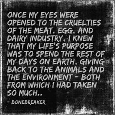 Truth. I'm not perfect and I don't claim to be..but for me I fee I must eat mindfully. No animal needs to die for me to live. ALL ANIMALS LIVES MATTER