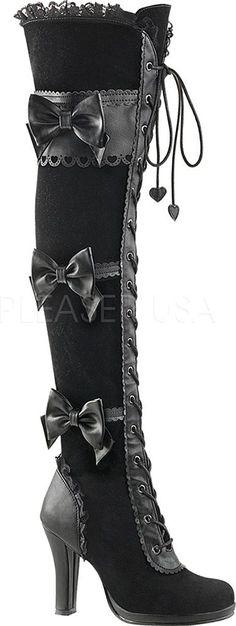 Demonia GLAM-300 Damen Lolita Gothic Stiefel: Amazon.de: Schuhe & Handtaschen