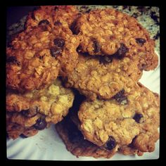 Chocolate Almond Oatmeal Cookies
