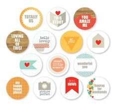 Chic Tags - Happy Place Collection - Mini Icons at Scrapbook.com