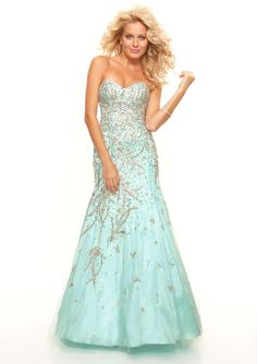 Blue sparkle mermaid cut style dress