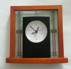 Frank Lloyd Wright Willits Table Clock by Bulova B7756 #Bulova #FrankLloydWright