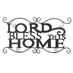 Lord Bless This Home Wrought Iron Wall Art * For more information, visit now : Home Decor Wall Pediments