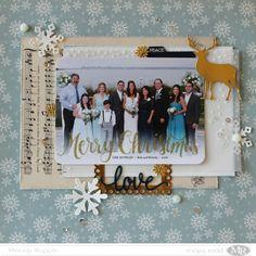 Christmas Card Scrapbook Layout