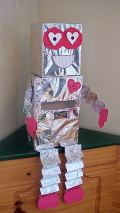 Robot Valentine day box! Cute
