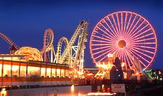 I lived in Cape May, New Jersey. My favorite hang out with my friends was the Board Walk in Wildwood. - The Giant Wheel at Night (Board Walk in Wildwood)