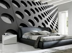 Perspective Wall Mural-Abstract,Black & White,Textures-Eazywallz