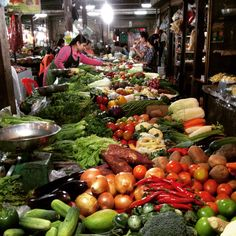Food market Phnom Penh Cambodia