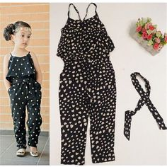 2017 Girls Rompers Summer New Style Fashion Girls Jumpsuit Clothes Heart-Shaped Pattern Children Overall with WaistbandCheap clothing sets, Buy Quality clothing set kids directly from China set kids Suppliers: 2017 Girls Rompers Clothes Kids Girls Ha Cheap Girls Clothes, Cool Kids Clothes, Kids Outfits Girls, Toddler Girl Outfits, Baby Girl Dresses, Baby Dress, Kids Girls, Baby Girls, Jumpsuits For Girls