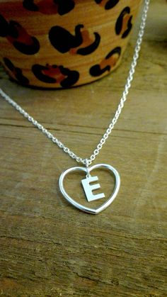 love necklace, love, letters from the heart, heart, letters, monogram, personalized, jewelry, platinum plated, nickel free