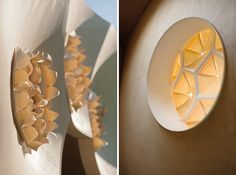 Achim Menges developes hygroskin and hygroscope: biomimetic meteorosensitive pavilions