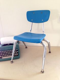 Child's chair retro modern childrens small chair in by KimBuilt, $28.00