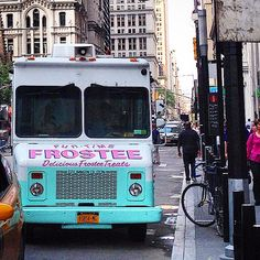 Frosty goodness is coming! We've been helping moms find these ice cream trucks for parties! What a fun idea  #ictruck #icecream #dessert #nyc #manhattan #city