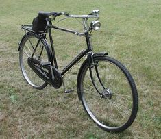 An old Raleigh 3-speed bicycle with rear rack and chain guard. My favorite. I rode it to/from school. The civilized height of the handlebars was wonderful!