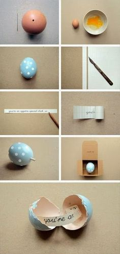 Use an Eggshell to send a secret message! - Recycle Lovers