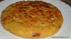 Disfruta de esta deliciosa tortilla vegana Ingredientes: Patatas Calabacín Cebolla Harina de garbanzos Agua con o sin gas, o bebidade soja natural A...