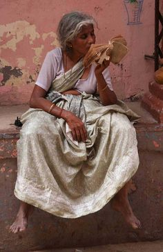 Woman reading (India)