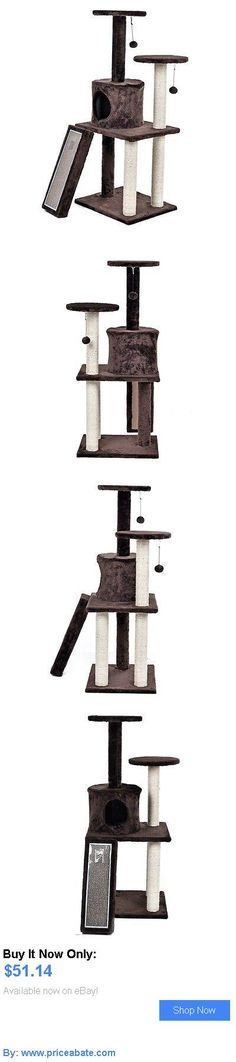 Animals Cats: Brown Pet Cat Tree Condo Furniture Scratch Tower Kitten Pet Play House Cat Toy BUY IT NOW ONLY: $51.14 #priceabateAnimalsCats OR #priceabate