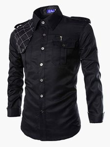 Chemise casual coton manches longues
