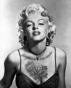 Marilyn Monroe Tatted Up | marilyn tattoo marilyn monroe awol ryan suarez norma jean alex