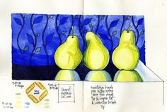 Drawing Option that Could Give You Superior Results pears are a favorite subject.this drawing is an artsnacks challenge drawing august 2018 ________________________________ are a favorite subject.this drawing is an arts. Sketchbook Drawings, Ink Drawings, Sketchbook Ideas, Watercolor Artwork, Watercolor Sketch, Examples Of Art, Pencil Painting, Favorite Subject, Mixed Media Artwork