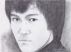 Bruce Lee, done for my friend who is a martial artist.