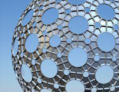 metallic fly's eye dome