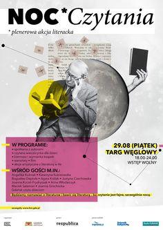 Noc czytania - plenerowa akcja literacka na Targu Węglowym (29.08.2014), proj. Alicja Szymankiewicz