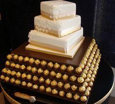 Ferrero Rocher Cake Stand & Cake http://www.weddingmarket.co.uk/goods-for-hire/ferrero-rocher-stands/