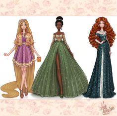 Disney+Princesses+Dreams+Collection+III+by+MidaIllustrations.deviantart.com+on+@DeviantArt