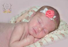 Photo Prop  Rustic Newborn Baby Tie Back Headband  by TheRogueBaby, $4.95