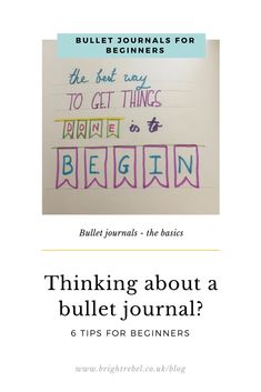 Do you quite fancy beginning a bullet journal but don't know where to start? Here are a couple of thoughts to make it a little easier. Bullet Journal Beginning, Getting Organized, Confused, You Got This, How To Get, Organization, Thoughts, Tips, Blog