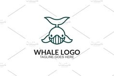 Whale Line by GoldenCreative on @creativemarket