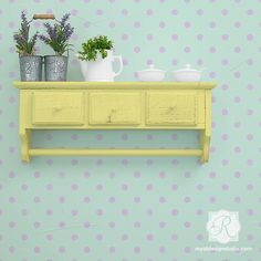 Graphic Modern Wall Polka Dot Stencils | Polka Party | Royal Design Studio