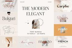 Hand Lettering Fonts, Typography Fonts, Font Logo, Serif Font, Creative Typography, Creative Fonts, Calligraphy Fonts, Minimal Font, Luxury Font