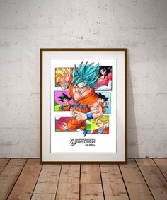 Goku  Illustrated Giclée Print by Mikeyink80Art on Etsy