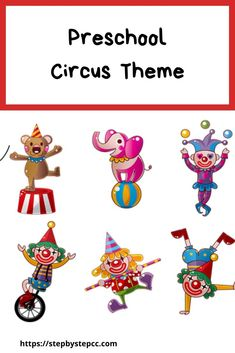 Step By Step Child Care and Preschool Circus Theme.  Circus book ideas, songs and fingerplays, arts and crafts, recipes, and more.  Circus activities for parents, preschools, homeschools, and daycares. Preschool Circus, Circus Activities, Preschool Crafts, Book Of Circus, Circus Theme, Activities For One Year Olds, Daycare Forms, Finger Plays, Step Kids