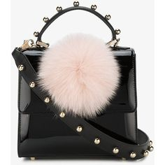 Les Petits Joueurs Mini Alex Bunny Shoulder Bag ($655) ❤ liked on Polyvore featuring bags, handbags, shoulder bags, mini purse, shoulder handbags, leather handbags, pink leather purse and pink handbags