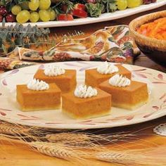 Pumpkin Shortbread Dessert Recipe -My family prefers this to traditional pumpkin pie, which is just fine with me. It feeds a crowd, so I only need to make one dessert instead of several pies.