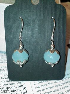 Blue Quartz and Sterling Dangle Earrings by finelyfinisheddesign, $20.00