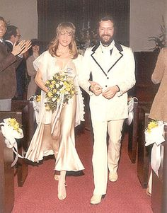 Net Image: Eric Clapton and Pattie Boyd: Photo ID: . Picture of Eric Clapton and Pattie Boyd - Latest Eric Clapton and Pattie Boyd Photo. Celebrity Wedding Photos, Celebrity Couples, Celebrity Weddings, Eric Clapton Pattie Boyd, Wedding Bells, Wedding Day, Wedding Ceremony, Hollywood Wedding, Famous Couples