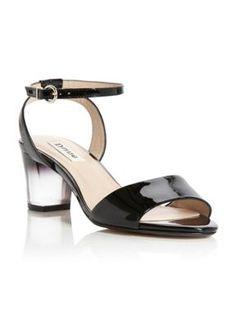Dune Frolic lucite heeled sandals Blonde - House of Fraser