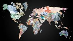 CURRENCY MAP OF THE WORLD GLOSSY POSTER PICTURE PHOTO money euro pound globe 23