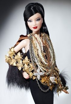 OOAK Justin Guinta collab for the CDFA Barbie Auction  This is stunning!